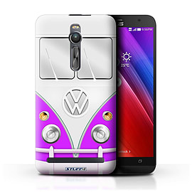 STUFF4 Phone Case/Cover for Asus Zenfone 2 ZE550ML/Purple Design/VW Camper Van Mobile phones