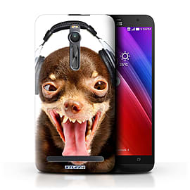 STUFF4 Phone Case/Cover for Asus Zenfone 2 ZE550ML/Ridiculous Dog Design/Funny Animals Mobile phones