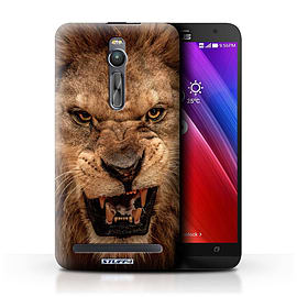 STUFF4 Phone Case/Cover for Asus Zenfone 2 ZE550ML/Lion Design/Wildlife Animals Mobile phones