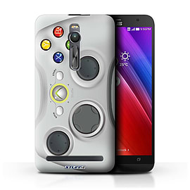 STUFF4 Phone Case/Cover for Asus Zenfone 2 ZE551ML/White Xbox 360 Design/Games Console Mobile phones