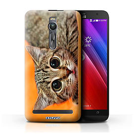 STUFF4 Phone Case/Cover for Asus Zenfone 2 ZE551ML/Big Eye Cat Design/Funny Animals Mobile phones