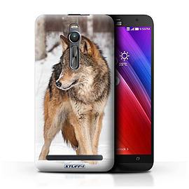 STUFF4 Phone Case/Cover for Asus Zenfone 2 ZE551ML/Wolf Design/Wildlife Animals Mobile phones