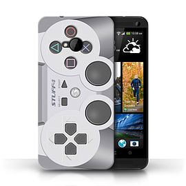 STUFF4 Phone Case/Cover for HTC One/1 M7/Playstation PS1 Design/Games Console Mobile phones