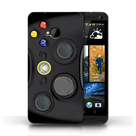 STUFF4 Phone Case/Cover for HTC One/1 M7/Black Xbox 360 Design/Games Console Mobile phones