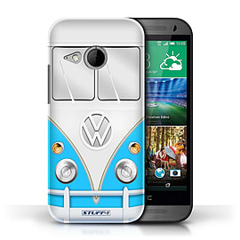 STUFF4 Phone Case/Cover for HTC One/1 Mini 2/Blue Design/VW Camper Van Mobile phones