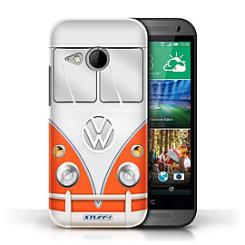 STUFF4 Phone Case/Cover for HTC One/1 Mini 2/Red Design/VW Camper Van Mobile phones