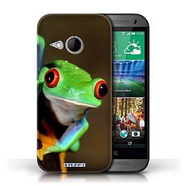 STUFF4 Phone Case/Cover for HTC One/1 Mini 2/Frog Design/Wildlife Animals Mobile phones