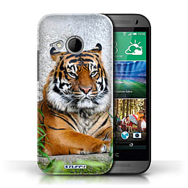 STUFF4 Phone Case/Cover for HTC One/1 Mini 2/Tiger Design/Wildlife Animals Mobile phones