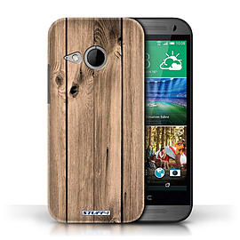 STUFF4 Phone Case/Cover for HTC One/1 Mini 2/Plank Design/Wood Grain Effect/Pattern Mobile phones