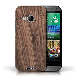 STUFF4 Phone Case/Cover for HTC One/1 Mini 2/Walnut Design/Wood Grain Effect/Pattern Mobile phones
