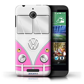 STUFF4 Phone Case/Cover for HTC Desire 510/Pink Design/VW Camper Van Mobile phones