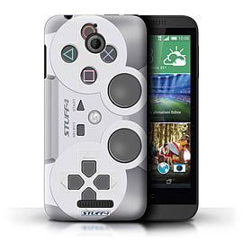 STUFF4 Phone Case/Cover for HTC Desire 510/Playstation PS1 Design/Games Console Mobile phones