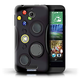 STUFF4 Phone Case/Cover for HTC Desire 510/Black Xbox 360 Design/Games Console Mobile phones