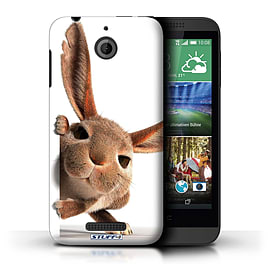 STUFF4 Phone Case/Cover for HTC Desire 510/Peeking Bunny Design/Funny Animals Mobile phones