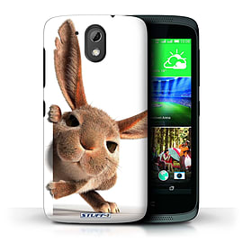 STUFF4 Phone Case/Cover for HTC Desire 526G+/Peeking Bunny Design/Funny Animals Mobile phones