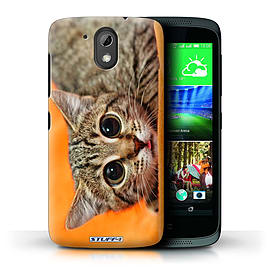 STUFF4 Phone Case/Cover for HTC Desire 526G+/Big Eye Cat Design/Funny Animals Mobile phones