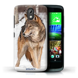 STUFF4 Phone Case/Cover for HTC Desire 526G+/Wolf Design/Wildlife Animals Mobile phones