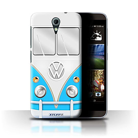 STUFF4 Phone Case/Cover for HTC Desire 620/Blue Design/VW Camper Van Mobile phones