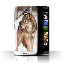 STUFF4 Phone Case/Cover for HTC Desire 620/Wolf Design/Wildlife Animals Mobile phones