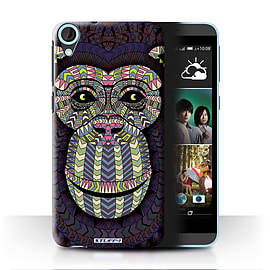 STUFF4 Phone Case/Cover for HTC Desire 820/Monkey-Colour Design/Aztec Animal Design Mobile phones