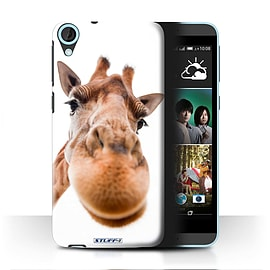 STUFF4 Phone Case/Cover for HTC Desire 820/Closeup Giraffe Design/Funny Animals Mobile phones