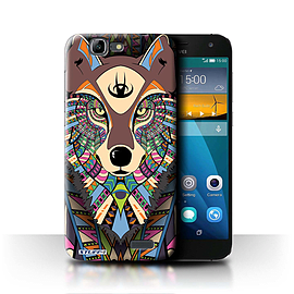 STUFF4 Phone Case/Cover for Huawei Ascend G7/Wolf-Colour Design/Aztec Animal Design Mobile phones