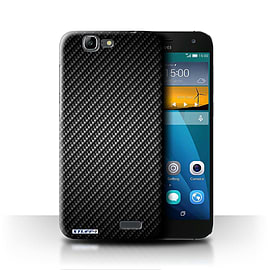 STUFF4 Phone Case/Cover for Huawei Ascend G7/Grey Design/Carbon Fibre Effect/Pattern Mobile phones