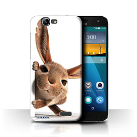 STUFF4 Phone Case/Cover for Huawei Ascend G7/Peeking Bunny Design/Funny Animals Mobile phones