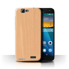 STUFF4 Phone Case/Cover for Huawei Ascend G7/Beech Design/Wood Grain Effect/Pattern Mobile phones