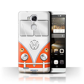 STUFF4 Phone Case/Cover for Huawei Ascend Mate7/Red Design/VW Camper Van Mobile phones