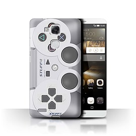 STUFF4 Phone Case/Cover for Huawei Ascend Mate7/Playstation PS1 Design/Games Console Mobile phones