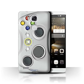 STUFF4 Phone Case/Cover for Huawei Ascend Mate7/White Xbox 360 Design/Games Console Mobile phones