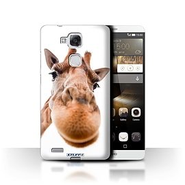 STUFF4 Phone Case/Cover for Huawei Ascend Mate7/Closeup Giraffe Design/Funny Animals Mobile phones