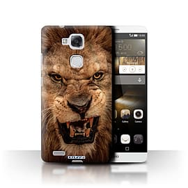 STUFF4 Phone Case/Cover for Huawei Ascend Mate7/Lion Design/Wildlife Animals Mobile phones
