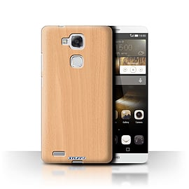 STUFF4 Phone Case/Cover for Huawei Ascend Mate7/Beech Design/Wood Grain Effect/Pattern Mobile phones
