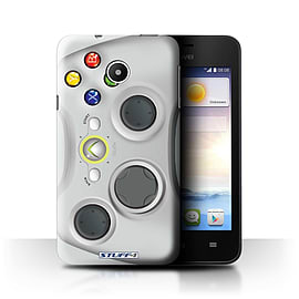 STUFF4 Phone Case/Cover for Huawei Ascend Y330/White Xbox 360 Design/Games Console Mobile phones