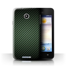 STUFF4 Phone Case/Cover for Huawei Ascend Y330/Green Design/Carbon Fibre Effect/Pattern Mobile phones