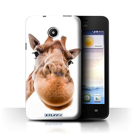 STUFF4 Phone Case/Cover for Huawei Ascend Y330/Closeup Giraffe Design/Funny Animals Mobile phones