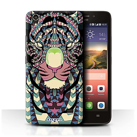STUFF4 Phone Case/Cover for Huawei Ascend G620S/Tiger-Colour Design/Aztec Animal Design Mobile phones