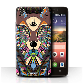 STUFF4 Phone Case/Cover for Huawei Ascend G620S/Wolf-Colour Design/Aztec Animal Design Mobile phones