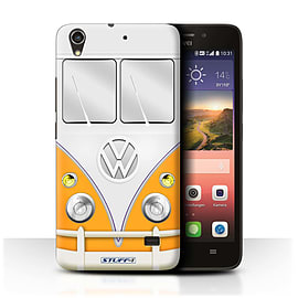 STUFF4 Phone Case/Cover for Huawei Ascend G620S/Orange Design/VW Camper Van Mobile phones