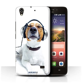 STUFF4 Phone Case/Cover for Huawei Ascend G620S/Chillin Headphone Dog Design/Funny Animals Mobile phones