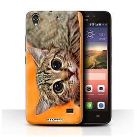 STUFF4 Phone Case/Cover for Huawei Ascend G620S/Big Eye Cat Design/Funny Animals Mobile phones