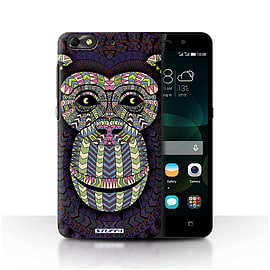 STUFF4 Phone Case/Cover for Huawei G Play Mini/Monkey-Colour Design/Aztec Animal Design Mobile phones