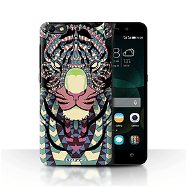 STUFF4 Phone Case/Cover for Huawei G Play Mini/Tiger-Colour Design/Aztec Animal Design Mobile phones