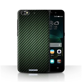 STUFF4 Phone Case/Cover for Huawei G Play Mini/Green Design/Carbon Fibre Effect/Pattern Mobile phones