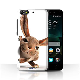 STUFF4 Phone Case/Cover for Huawei G Play Mini/Peeking Bunny Design/Funny Animals Mobile phones