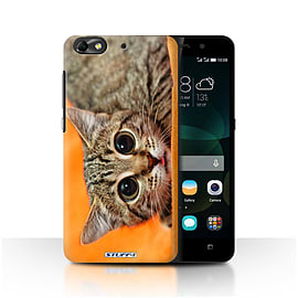 STUFF4 Phone Case/Cover for Huawei G Play Mini/Big Eye Cat Design/Funny Animals Mobile phones