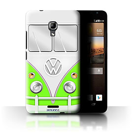 STUFF4 Phone Case/Cover for Huawei Ascend Mate2 4G/Green Design/VW Camper Van Mobile phones