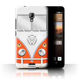 STUFF4 Phone Case/Cover for Huawei Ascend Mate2 4G/Red Design/VW Camper Van Mobile phones